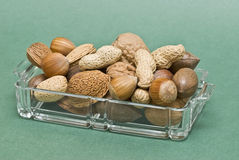 A try full of nuts. Royalty Free Stock Images