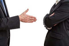 Try of handshaking Royalty Free Stock Image