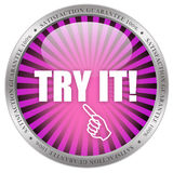 Try it icon. Isolated on white background Royalty Free Stock Image