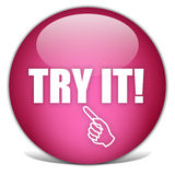 Try it icon. Over white Royalty Free Stock Photo