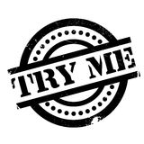 Try Me Rubber Stamp Royalty Free Stock Photos