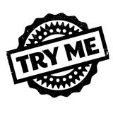 Try Me rubber stamp Stock Image