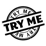 Try Me rubber stamp Royalty Free Stock Image
