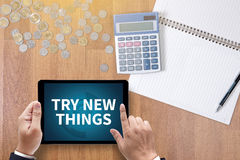 TRY NEW THINGS Royalty Free Stock Photos
