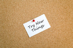 Try New Things Sticky Note Concept Royalty Free Stock Images