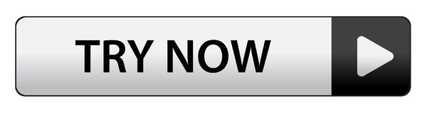 Try now button. Try now web button on computer generated web button icon on pure white background Stock Images
