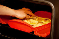Try pear pie in the oven Stock Image