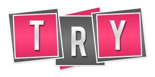 Try Pink Grey Blocks royalty free illustration