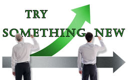 Free Try Something New Concept Drawn By Businessmen Stock Photography - 83935772