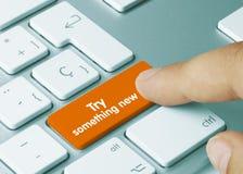 Try something new - Inscription on Orange Keyboard Key