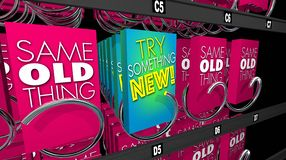 Try Something New Product Trial Offer Vending Machine Stock Photos
