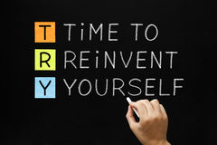 TRY - Time to Reinvent Yourself Royalty Free Stock Photos