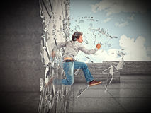 Try to be strong Royalty Free Stock Images