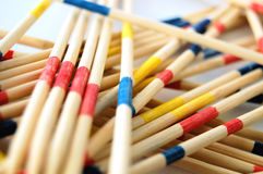 Try to get them all. Sticks (mikado) to pick-up gaining score Royalty Free Stock Images
