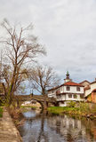 Tryavna. Old Bridge and the Clock Tower in Tryavna Stock Photography