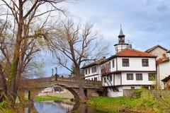 Tryavna. Old Bridge and the Clock Tower in Tryavna Stock Photo