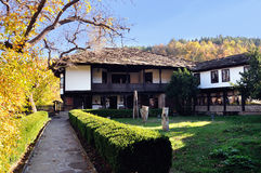 Tryavna Bulgaria. Old adobe house with a yard Bulgaria Tryavna Stock Images