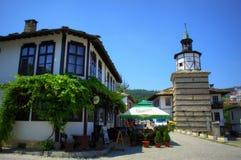 Tryavna Clock Tower square,Bulgaria Stock Image