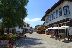 Tryavna town main street,Bulgaria Royalty Free Stock Photo