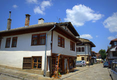 Tryavna town main street,Bulgaria Royalty Free Stock Images