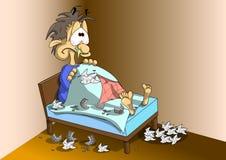 Tryb jest chory Pigułki, kiście, glut ilustracja wektor