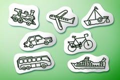 Tryb transportu pojęcia wizerunek na białych kreskówkach ilustracji