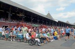 Trybuna tor wyścigów konnych, Saratoga Skacze, NY, Tom Wurl Zdjęcia Stock