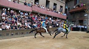 Trybuna widzowie w Palio Siena Obraz Stock
