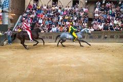 Trybuna widzowie w Palio Siena Fotografia Stock