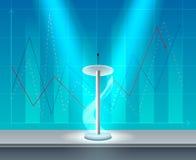 Trybuny Biznesowej konferenci Realistyczny skład ilustracja wektor