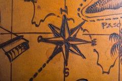 Tryck av den huvudsakliga riktningen - norr sydostligt västra som finnas vanligt i kompass arkivbild