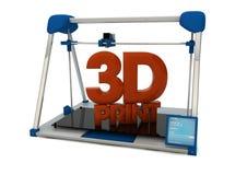 tryck 3D Royaltyfria Bilder