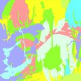 Tryck för fantasimålarfärgfläckar stock illustrationer