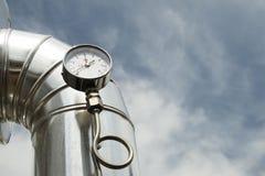 tryck för gasmanometer Arkivbilder