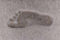 Tryck för kal fot på snön Royaltyfri Foto