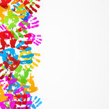 Tryck för textur för bakgrund för hand för kortdesign Arkivbilder