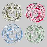 Tryck med en kontur av Santa Claus royaltyfri illustrationer