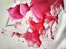 Tryck och färgstänk för målning för texturfärgvattenfärg vektor illustrationer