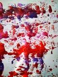 Tryck och färgstänk för målning för texturfärgvattenfärg arkivbild