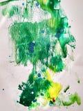 Tryck och färgstänk för målning för texturfärgvattenfärg stock illustrationer
