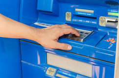 Tryck på ATM-EPP-tangentbordet Fotografering för Bildbyråer