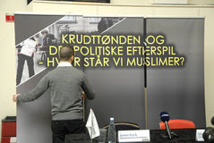 TRYCK PÅ CONFERNCE MED HIZB UT-TAHIRI Arkivfoton
