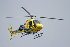 Tryck på helikoptern Fotografering för Bildbyråer