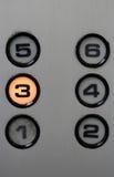 Tryck på hissknappen Fotografering för Bildbyråer