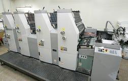 tryck på printing Arkivfoton