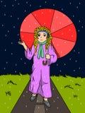 Tryck på regnet Arkivbild