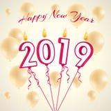 Tryck 2019 undersöker ballongvektorn stock illustrationer