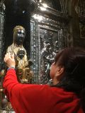 Trycka på den jungfruliga Maryen royaltyfri fotografi