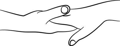 trycka på för händer vektor illustrationer