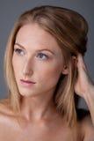 trycka på för hår Arkivfoto